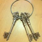 Lot of 3 Christmas Ornaments Sparkly Keys on Large Ring $9.99