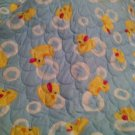 Custom Made Handmade Rubber Ducky Bubbles Baby Blanket Quilt Nursery $26.99