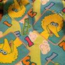 Cute Reversible Sesame Street Big Bird Felt Baby Blanket $9.99