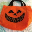 Halloween Felt Pumpkin Candy Trick or Treating Bag $6.99