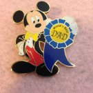 Authentic Walt Disney World Mickey Mouse Worlds Best Dad Ribbon 2009 Pin $19.99