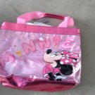 New with Tags Disney Minnie Mouse Ice Cream Cup Cake Pink Sequin Tote Purse Bag $24.99