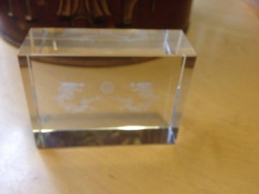 Dragon Cube Glass Laser Etching Paper Weight Decorarive Glass  $9.99
