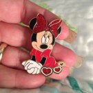 Authentic Walt Disney World Minnie Mouse Hearts Sparkle Large Pin $19.99