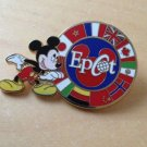 Authentic Walt Disney World Epcot Flag Mickey Mouse Circle Pin $14.99