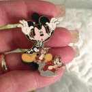 Walt Disney World Authentic Mickey Mouse Skeleton Chip Dale Halloween Pin $14.99
