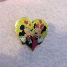Authentic Walt Disney Vintage Mickey & Minnie Mouse Yellow Heart Pin $19.99