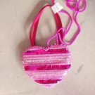 Pretty Heart Sequin Purse Valentines