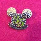 Authentic Walt Disney Large 35th Anniversary Rhinestone Pin (Missing some stones
