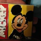 Walt Disney 2012 Large Mickey Mouse Yellow Red Name Pin