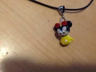 Disney Minnie Mouse Glass Bead Necklace