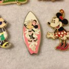 Authentic Disney Minnie Mouse Surf Board 2005 Cast Lanyard Series pin