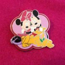 Authentic Walt Disney Large Mickey Minnie Mouse & Pluto Pin
