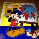Vintage Playskool Wood Wooden Mickey Mouse Artist Painter Puzzle
