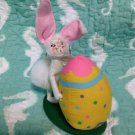 "New Annalee Mobilitee 5"" 2012 Easter Buny Artist with Soft Egg $22.50"