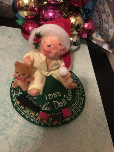 Annalee Vintage 1989 Baby with Train Christmas Doll 29.99