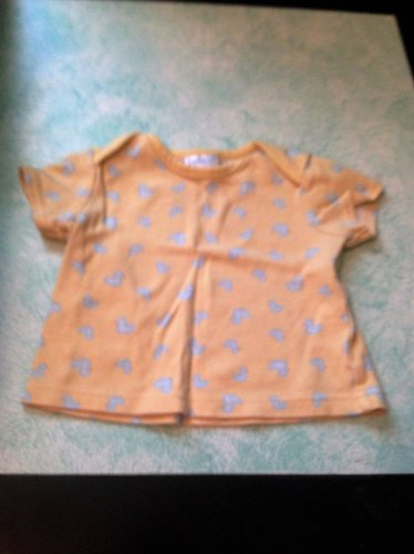 AdorableTykes Baby Unisex Yellow & Blue Ducky Duckie T-Shirt Size 3-6 Month %3.99