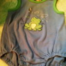 Adorable Rare Carter's 3-6 Month Unisex Blue Frog Baby 1pc Outfit $4.99