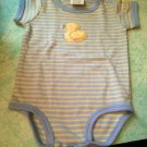 Rare Carter's 3-6 Month Boys Blue Yellow Chenille Little Duckie 1pc Baby Outfit $5.99
