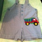 Adorable Bright Future Brand Size 6-9 Month Boys Truck JonJon Romper Outfit $9.99 Blue