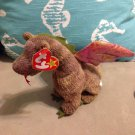 "Small 1998 7"" Scorch Dragon TY Plush Stuffed Animal Toy $3.99"