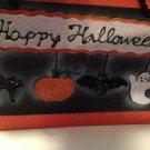Happy Halloween Papier-Mâché Pumpkin Cat Ghost Bat Decorative Box Pail $7.99