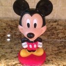 "Adorable 8"" Tall Plastic Mickey Mouse Bobble Head Figure Toy Walt Disney World $8.95"