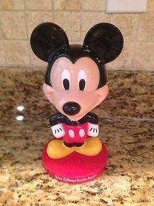 "Adorable 8"" Tall Plastic Mickey Mouse Bobble Head Figure Toy Walt Disney World $8.95"