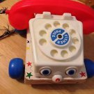 Vintage 1961 Wood and Plastic Fisher Price Telephone Pull Toy $9.99