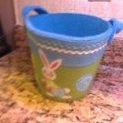 "Felt Peter Cotton Tail Easter Bunny Bucket Pail 7"" x 9"" $8.99"
