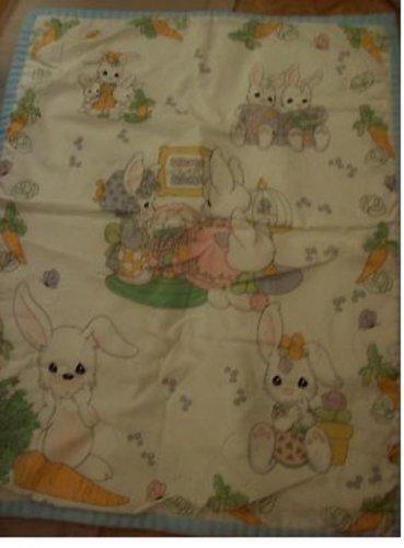 Handmade Precious Moments Bunny Baby Blanket Lovey $14.99