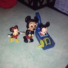 Lot of 3 Disney Vintage Mickey & Minnie Mouse Toys Wind Up & PVC & Bubble Blower $14.99