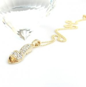 Gold Sandal Necklace made with Swarovski Crystals