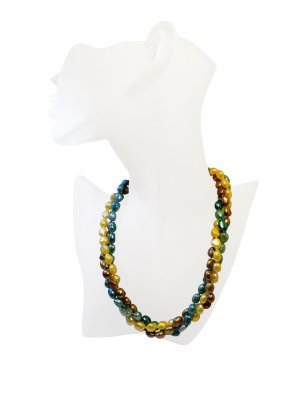 Multicoloured Twisted Freshwater Pearl, Handmade Necklace
