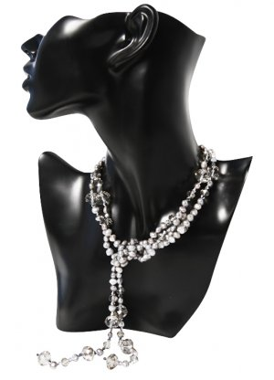 Czech Crystals Pearl Long Necklace