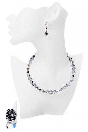Silverish-Grey Crystal Occasion Jewellery Set