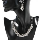 Sparkly Grey Midnight Crystal Jewellery Set