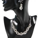 Sparkly Grey Midnight Crystal Jewellery Set