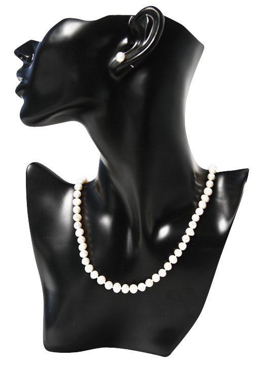 925 Silver Classy White 10mm Freshwater Pearl Jewellery Set
