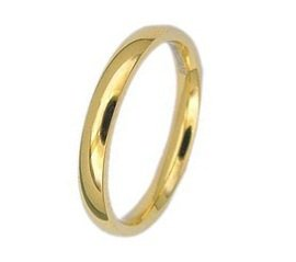 Highly Polished 14K Yellow Gold GP Comfort Fit His/Hers Wedding Band Ring Size 8(Q)