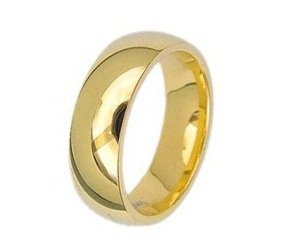 Highly Polished 14K Yellow Gold GP Comfort Fit His/Hers Wedding Band Ring Size 11(W)