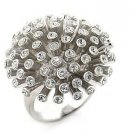 Trendy Ring made with Swarovski Crystallised Elements Size 8(Q)