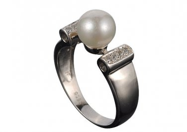 Classic Ladies, Akoya Pearl, 925 Sterling Silver Ring, Size R(8.5)
