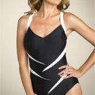 New Carol Wior ZORRO SPLICE Slimsuit Swimsuit One Piece Size 8