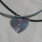 Pieces of My Heart 18 inch Rubber Necklace and Handmade Heart Pendant Duo