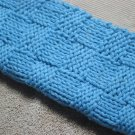 Hand Knitted Dish Cloth Blue