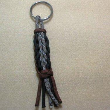 Paracord 4 inch Decorative Knot Key Chain Desert Camo
