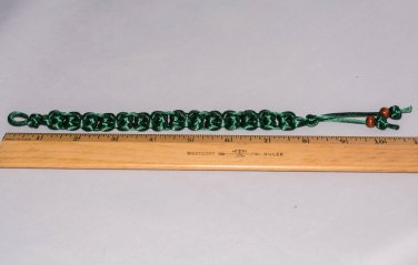 Knotted Satin Bookmark Evergreen