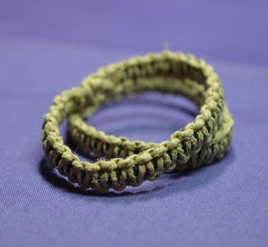 Natural Hemp Hair Tie 2 pack Small