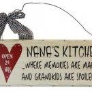 Wooden Plaque Nanas Kitchen
